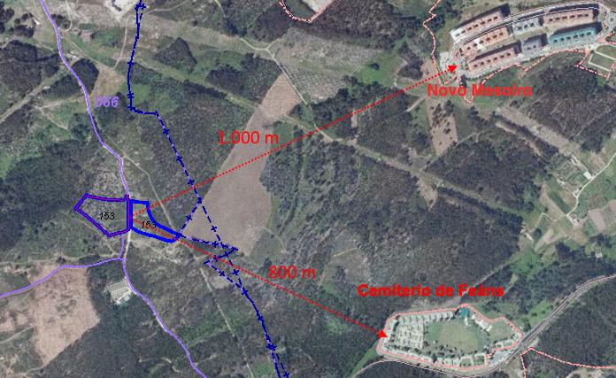 Mapa da ubicación da planta en Santa Icía