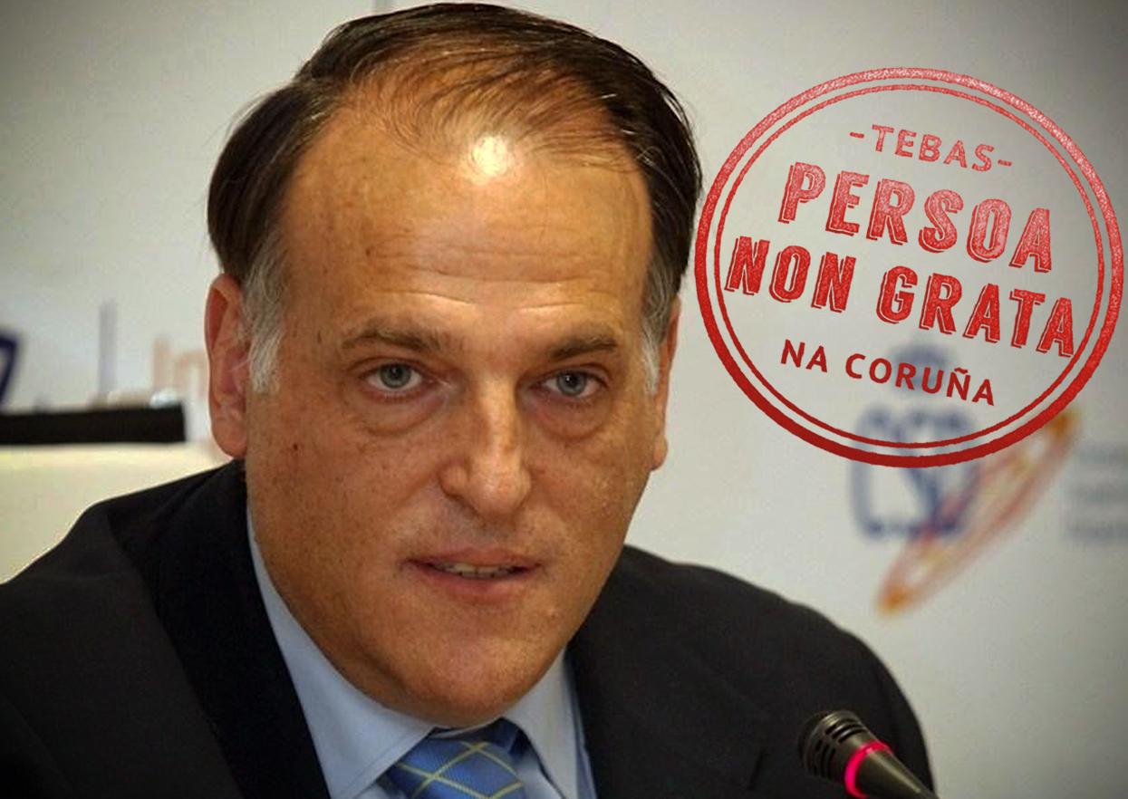 Javier Tebas, persoa non grata na Coruña
